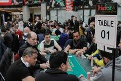 Grandes festival y torneo internacionales del póker fotos de archivo libres de regalías