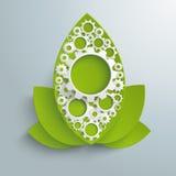 Grandes feuilles PiAd d'industrie verte Photo libre de droits