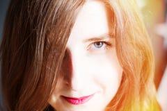 Grandes filles d'Européen de plan de portrait Photos stock