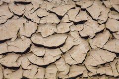 Grandes fissures de ruminage de boue et tuiles sèches de boue dans le Death Valley photo libre de droits