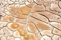 Grandes fissures de ruminage de boue et tuiles sèches de boue dans le Death Valley image stock