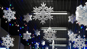 grandes flocos de neve Fotografia de Stock Royalty Free