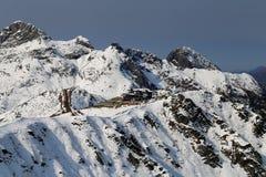 Grandes fotos de montanhas nevado Foto de Stock