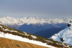 Grandes fotos de montanhas nevado Imagem de Stock Royalty Free