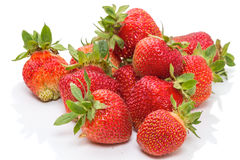 Grandes fraises fraîches Photos stock