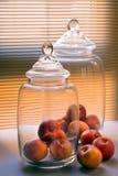 Grandes frascos de vidro Imagem de Stock