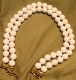 Grandes grânulos brancos do vintage Imagens de Stock Royalty Free