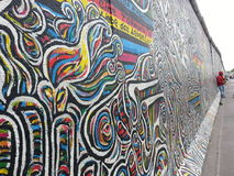 GRANDES GRAFITTIS EM A BILDING Foto de Stock Royalty Free