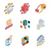 Grandes icônes d'analyse de données Images libres de droits
