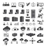 Grandes icônes de données réglées Photo stock