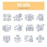 Grandes icônes de griffonnage de données Photographie stock