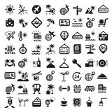 Grandes icônes de voyage réglées Image libre de droits