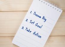 4 grandes ideais Fotografia de Stock