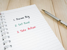 6 grandes ideales Fotografía de archivo