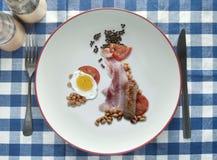 Grandes Ingleses fritam acima, café da manhã inglês Fotografia de Stock Royalty Free