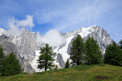 Grandes Jorasses Stock Photo