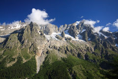 Grandes Jorasses Stock Photography