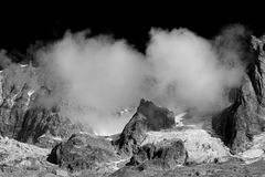 Grandes Jorasses Immagine Stock