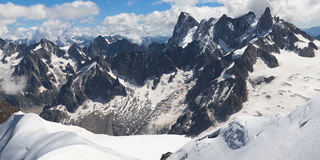 Grandes Jorasses from Aiguille du Midi Royalty Free Stock Photos