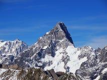 Grandes Jorasses in alpi francesi Fotografia Stock