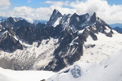 Grandes Jorasses and Dent du Geant Royalty Free Stock Images
