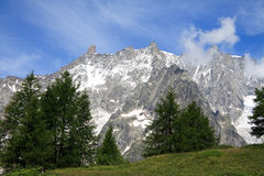 Grandes Jorasses and Dente del Gigante Stock Photography