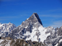 Grandes Jorasses in French Alps Stock Photo