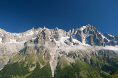Grandes Jorasses - mont Blanc Immagine Stock Libera da Diritti