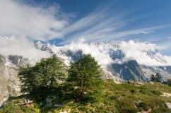 Grandes Jorasses - Mont Blanc Stock Image