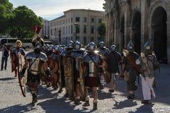 Grandes juegos romanos en Nimes, Francia Fotos de archivo libres de regalías