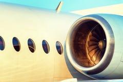 Grandes lames de turbine de turbines plates de moteur Image stock