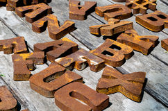 Grandes letras do metal Imagem de Stock Royalty Free