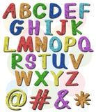 Grandes lettres colorées de l'alphabet illustration stock