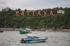 Grandes lettres PATTAYA Images stock