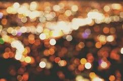 Grandes lumières de ville photos stock