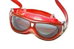 Grandes lunettes rouges image libre de droits