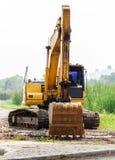 Grandes máquinas escavadoras Fotos de Stock
