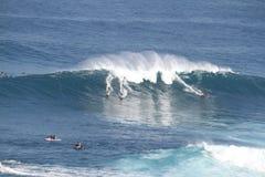 Grandes mâchoires Maui de ressac Photographie stock libre de droits