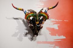 Grandes Maestros horned mask Royalty Free Stock Photos