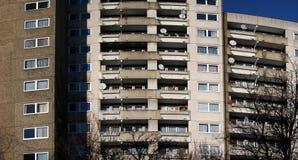 grandes maisons d'appartement Photographie stock libre de droits
