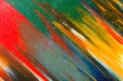 Grandes manchas da aquarela misturadas na lona Fotografia de Stock