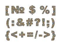 Grandes marcas de pontuação do seixo Imagens de Stock