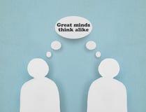 Grandes mentes Imagen de archivo libre de regalías