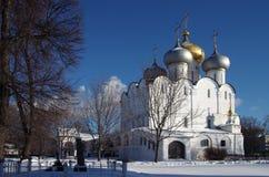Grandes monastérios de Rússia Convento de Novodevichy Foto de Stock Royalty Free
