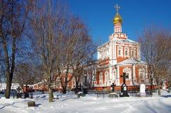 Grandes monastérios de Rússia Convento de Novodevichy Imagens de Stock