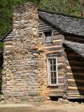 Grandes montañas ahumadas Nationa de registro del â colonial de la cabina Fotos de archivo libres de regalías