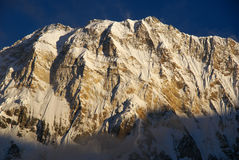 Grandes montagnes blanches image libre de droits