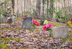 Grandes montagnes fumeuses de cimetière Photographie stock libre de droits