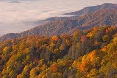 Grandes montanhas fumarentos do outono Imagens de Stock Royalty Free