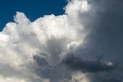 Grandes nuvens de cúmulo e nuvens de chuva escuras Imagem de Stock